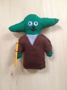 Yoda-Filzpuppe