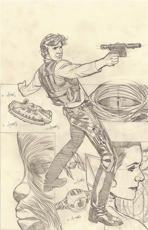 Rebel Heist #1 Ultravariant Sketch Cover