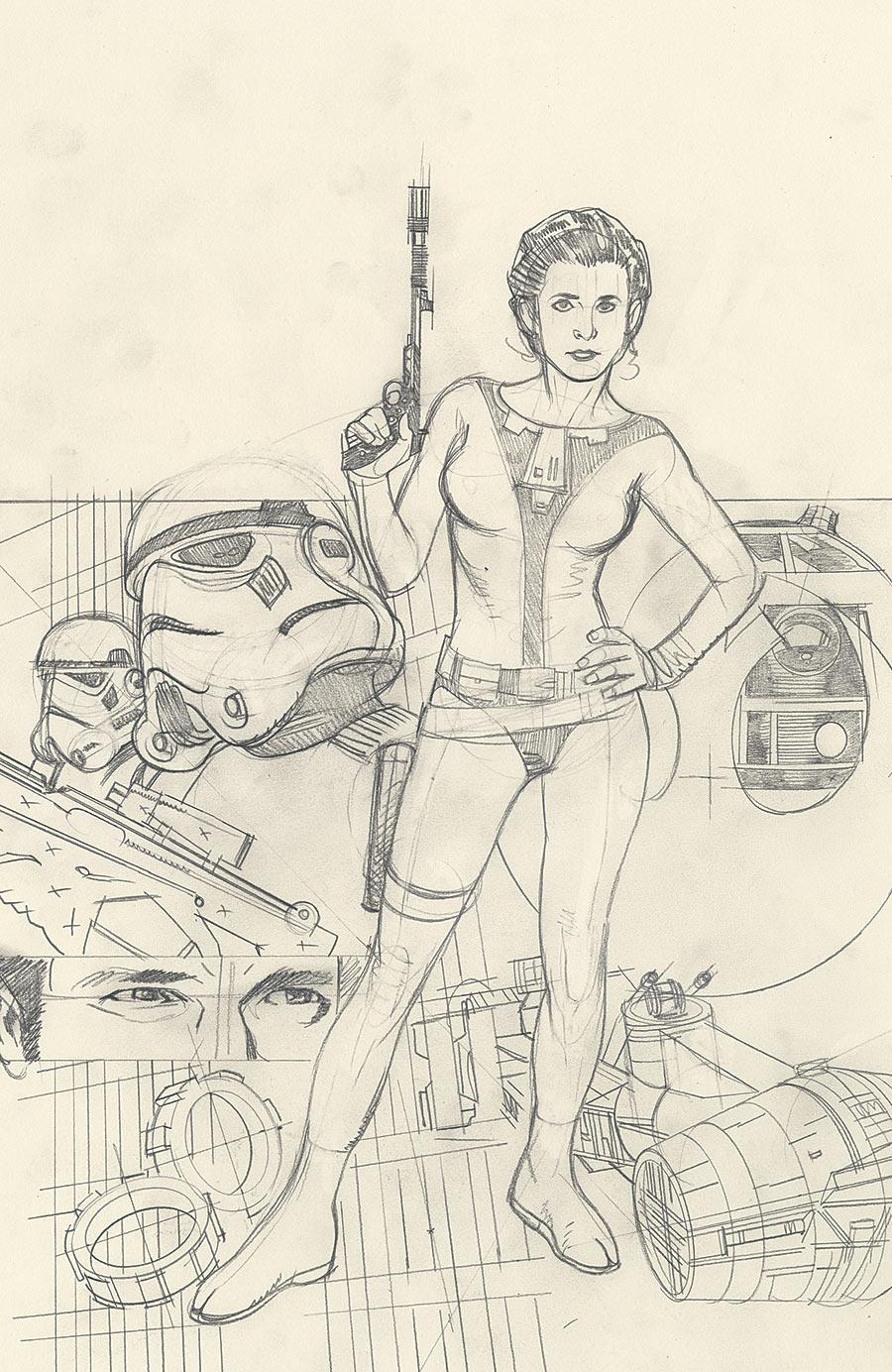Rebel Heist #2 Adam Hughes Ultra Variant Sketch Cover (28.05.2014)
