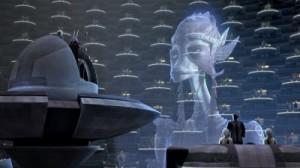 Königin Julias Hologramm
