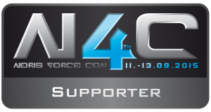 "Wir sind Supporter der <a href=""http://norisforcecon.de/"" target=""_blank"">Noris Force Con 4</a> (11. bis 13. September 2015)"