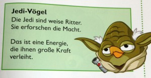 Jedi-Vögel in <em>Angry Birds – Star Wars: Spannende</em>