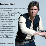A Sonnet for Harrison Ford