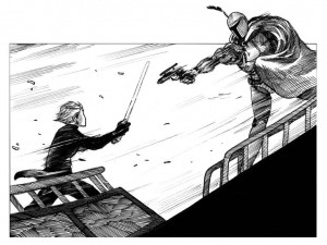 Luke vs. Boba in The Jedi Doth Return (via CNET)