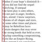 Akrostichon in The Jedi Doth Return