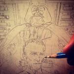 Joe Corroney zeichnet Tarkin und Vader