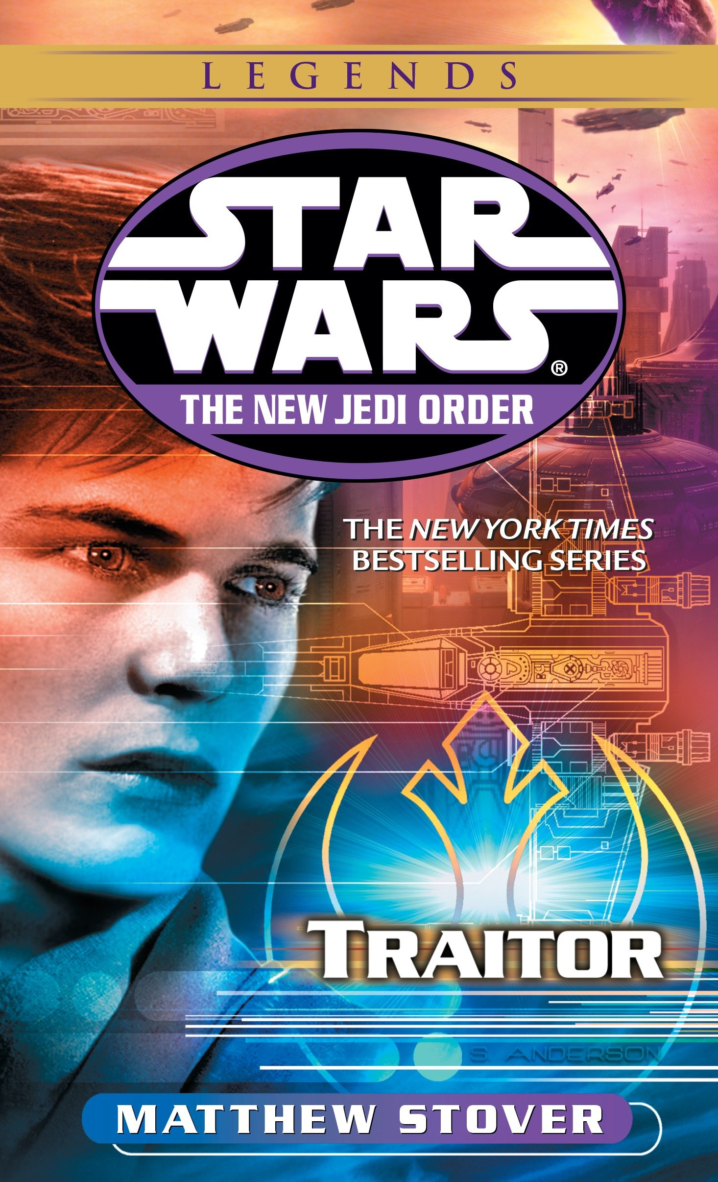 New Jedi Order 13: Traitor von Matthew Stover (Legends-Cover)