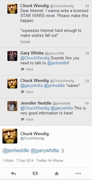 Chuck Wendig, Gary Whitta und Jen Heddle