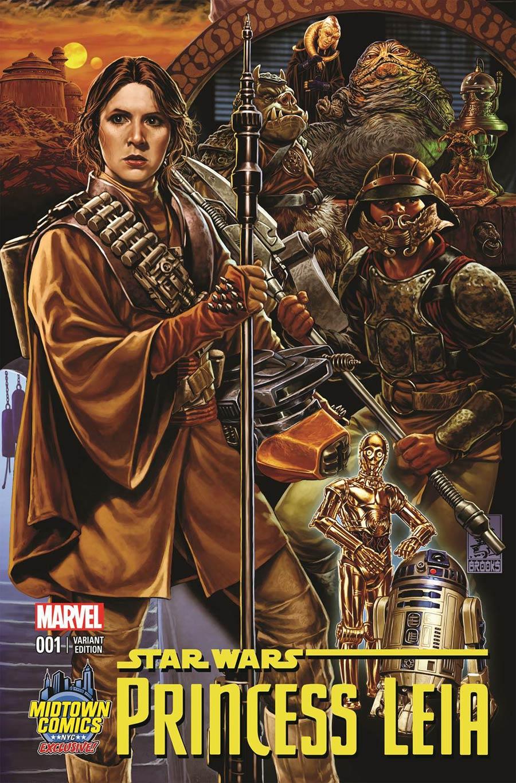 Princess Leia #1 (Mark Brooks Midtown Comics Connecting Variant Cover 3) (04.03.2015)