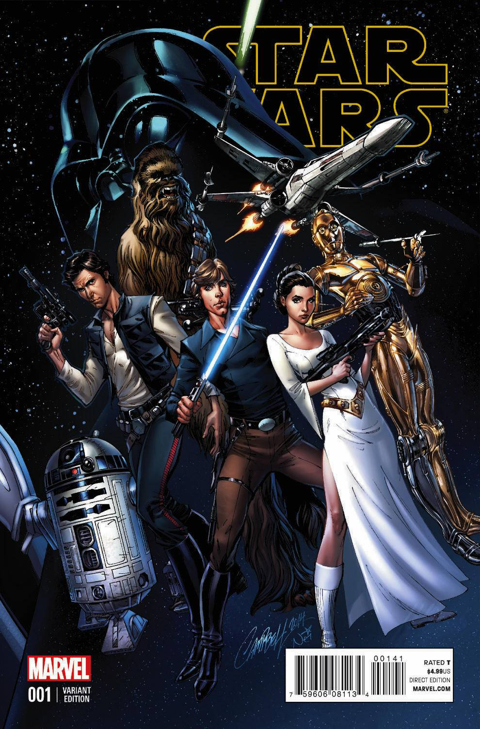 Star Wars #1 (J. Scott Campbell Connecting Variant Cover A) (14.01.2015)