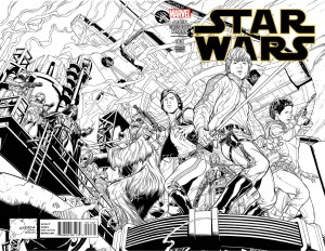Star Wars #1 (Joe Quesada Sketch Variant Cover) - komplettes Motiv