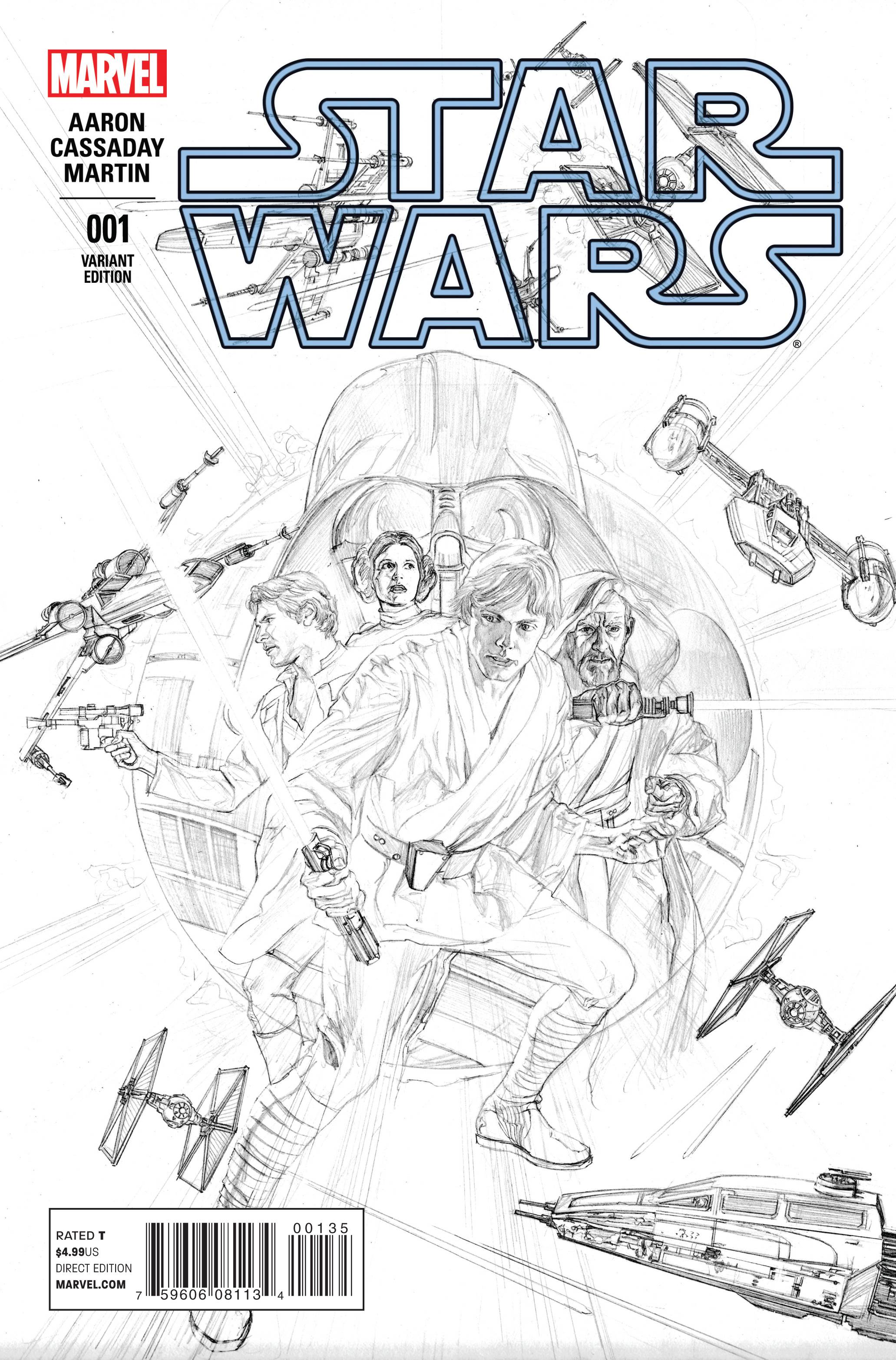 Star Wars #1 (Alex Ross Sketch Variant Cover) (14.01.2015)