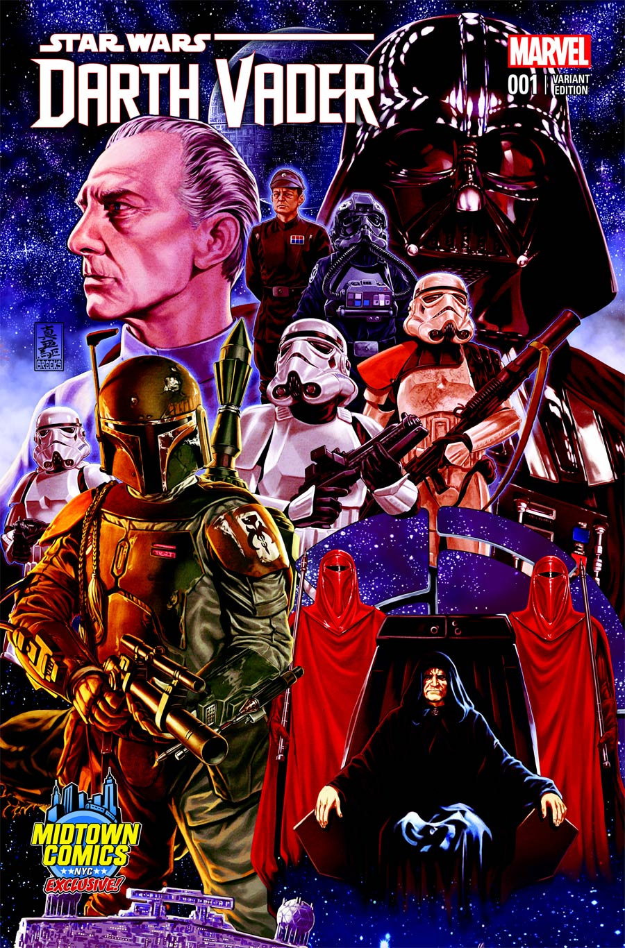 Darth Vader #1 (Mark Brooks Midtown Comics Connecting Variant Cover 2) (11.02.2015)