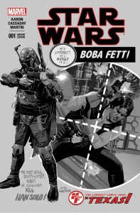 Star Wars #1 (Daniel Acuna Heroes & Fantasies Black & White Variant Cover) (14.01.2015)