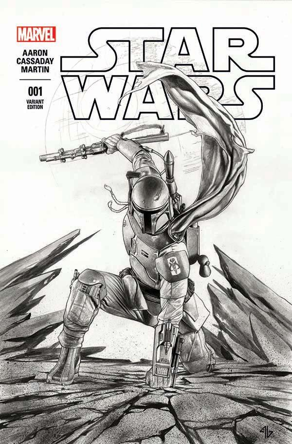 Star Wars #1 (Adi Granov Forbidden Planet Black & White Variant Cover) (14.01.2015)