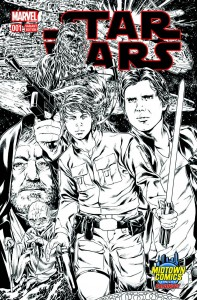 Star Wars #1 (Mark Brooks Midtown Comics Connecting Sketch Variant Cover 1) (14.01.2015)