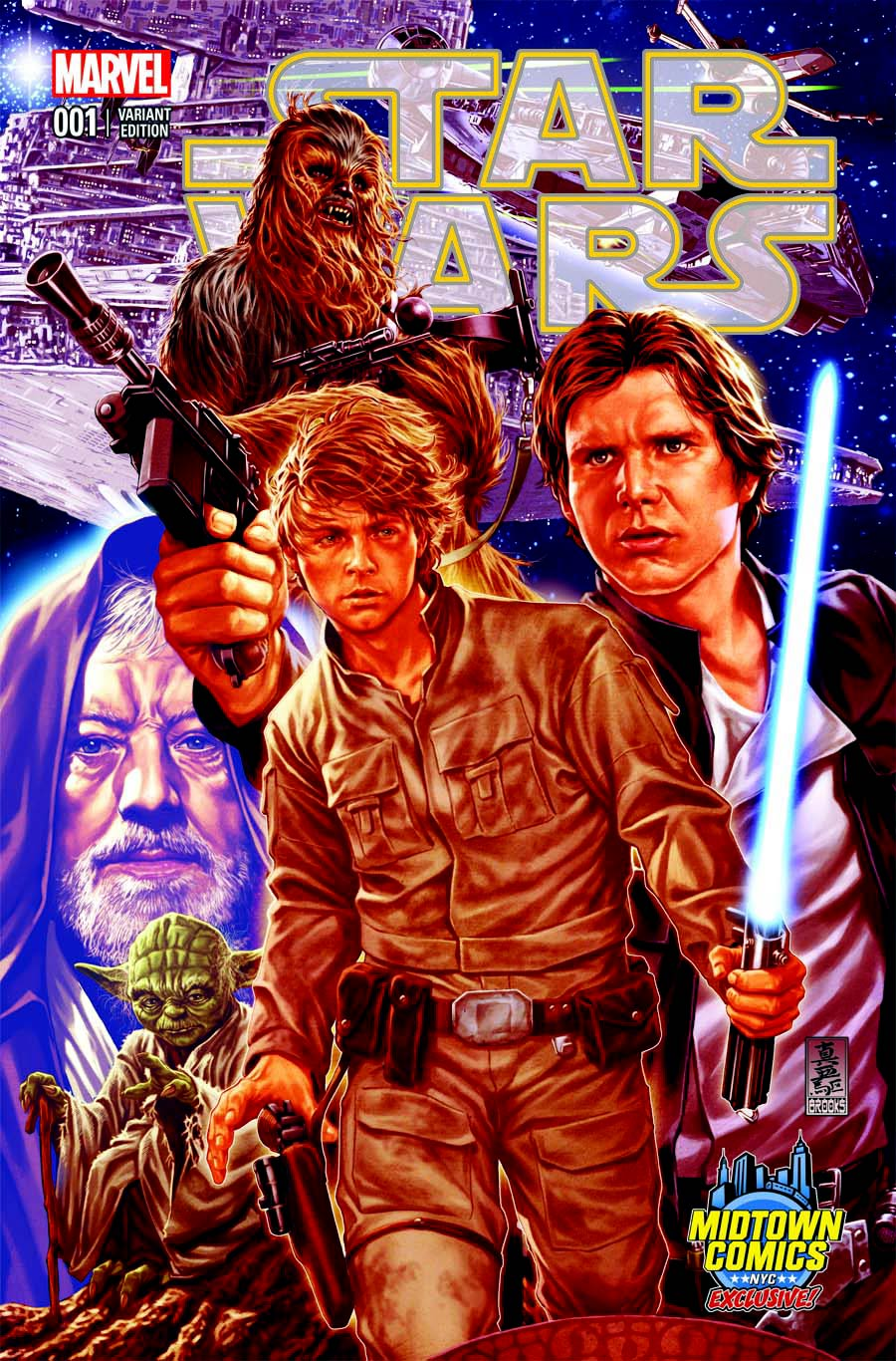 Star Wars #1 (Mark Brooks Midtown Comics Connecting Variant Cover 1) (14.01.2015)