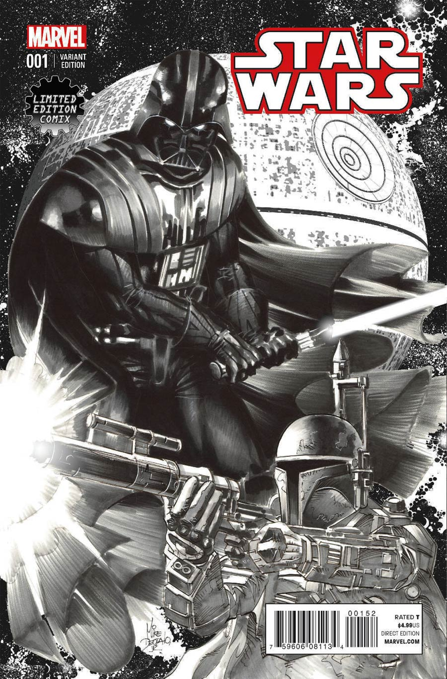 Star Wars #1 (Mike Deodato Limited Edition Comix Sketch Variant Cover) (14.01.2015)