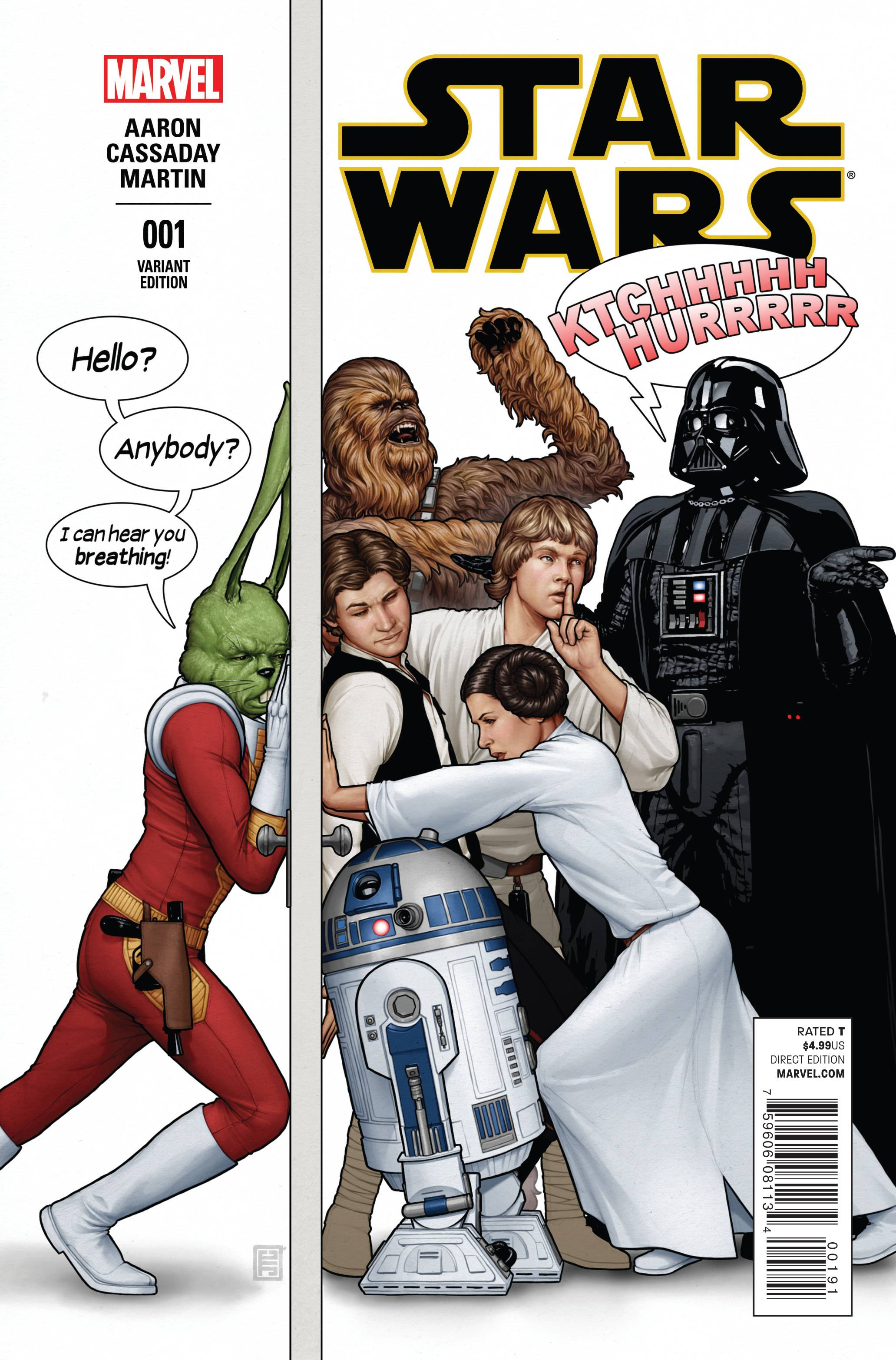 Star Wars #1 (John Tyler Christopher Humorous Party Variant Cover) (14.01.2015)