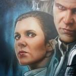 Leia und Han von Adi Granov in Farbe