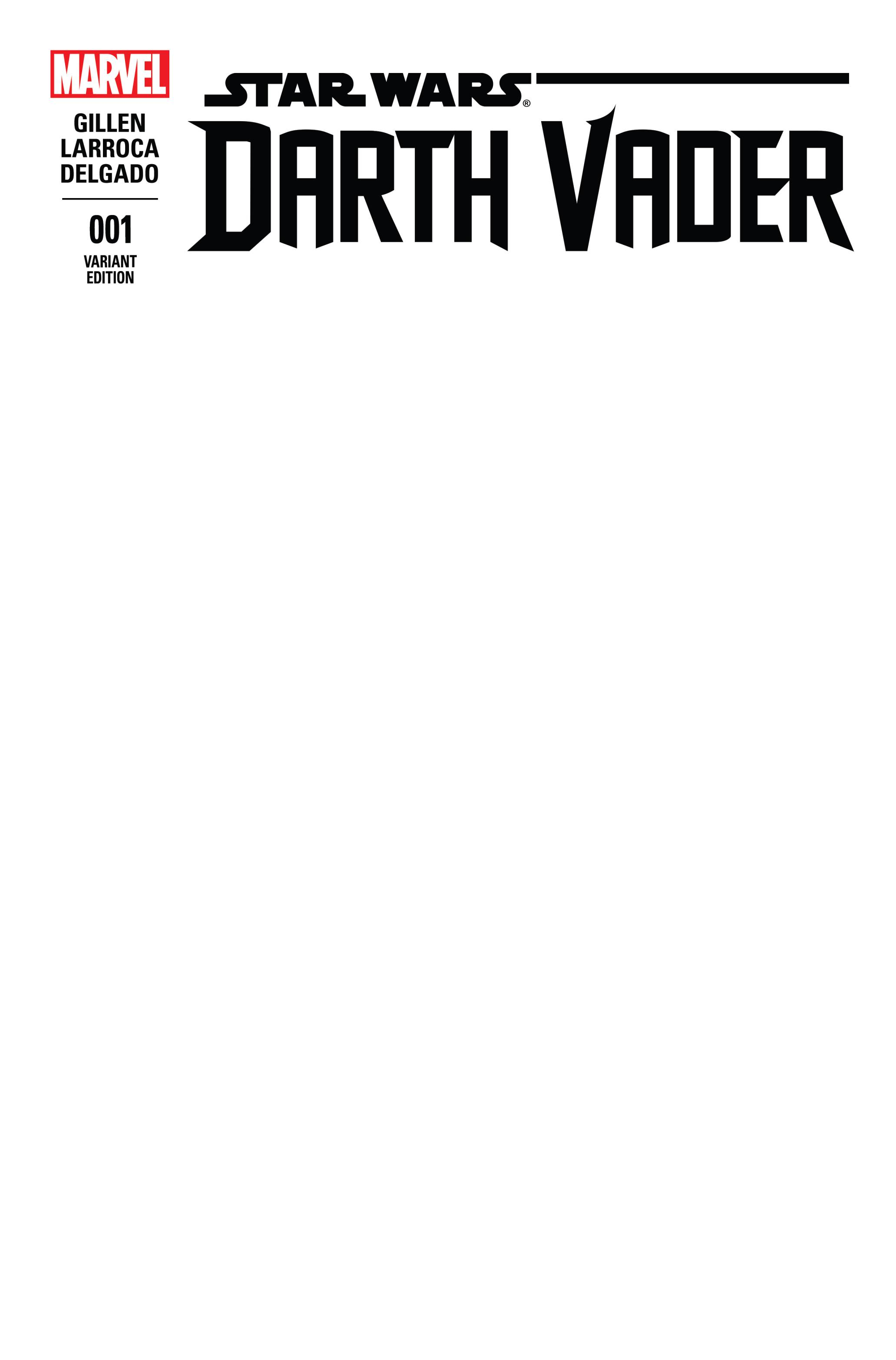 Darth Vader #1 (Blank Variant Cover) (11.02.2015)