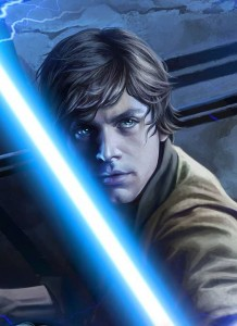 Magali Villeneuves Luke in <em>Heir to the Jedi</em>