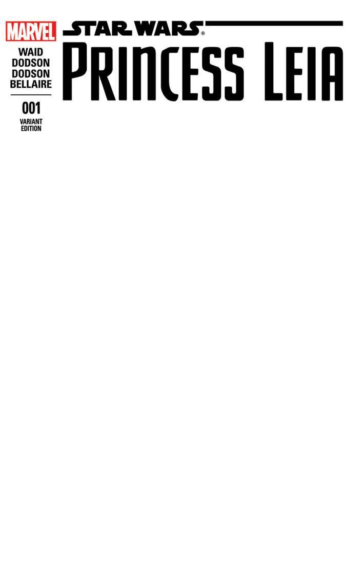 Princess Leia #1 (Blank Variant Cover) (04.03.2015)