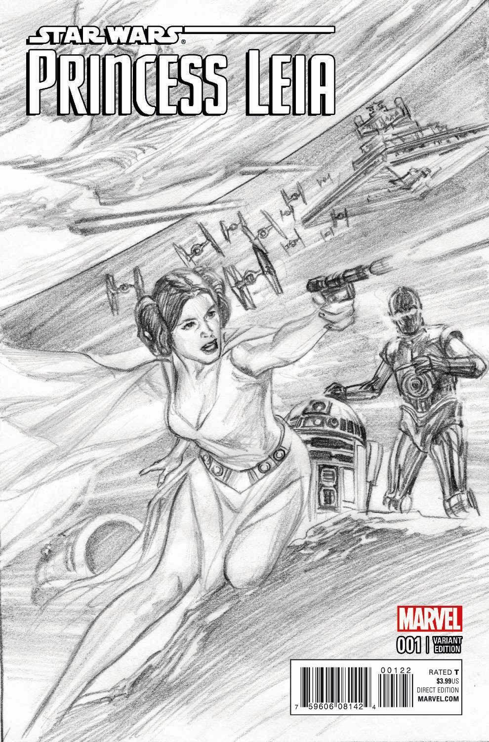 Princess Leia #1 (Alex Ross Sketch Variant Cover) (04.03.2015)