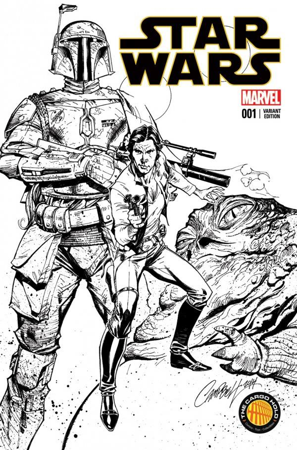 Star Wars #1 (J. Scott Campbell The Cargo Hold Black & White Variant Cover) (14.01.2015)