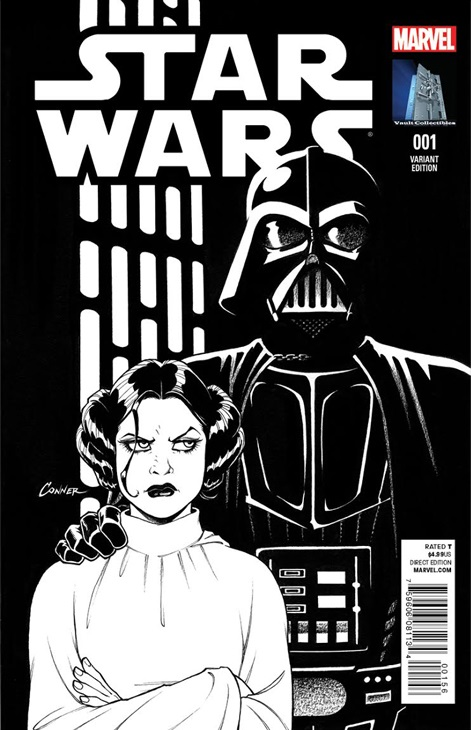 Star Wars #1 (Amanda Conner Vault Collectibles Black & White Variant Cover) (14.01.2014)