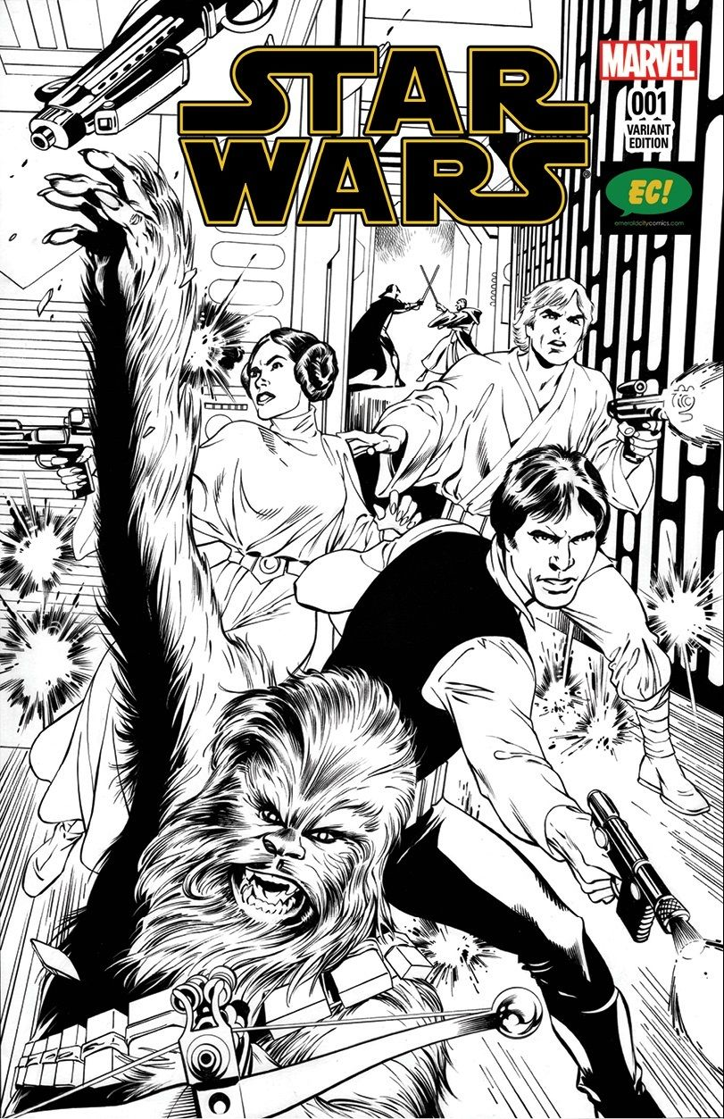 Star Wars #1 (Alan Davis Emerald City Comics Black & White Variant Cover) (14.01.2015)