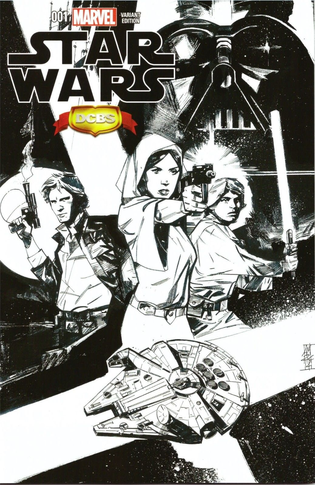 Star Wars #1 (Alex Maleev DCBS Sketch Variant Cover) (14.01.2015)
