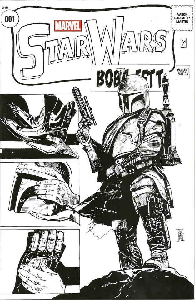 Star Wars #1 (Alex Maleev Comic Pop Collectibles/Warp 9 Comics Sketch Variant Cover) (14.01.2015)