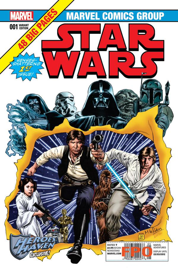 Star Wars #1 (Mike Perkins Heroes' Haven Variant Cover) (14.01.2015)