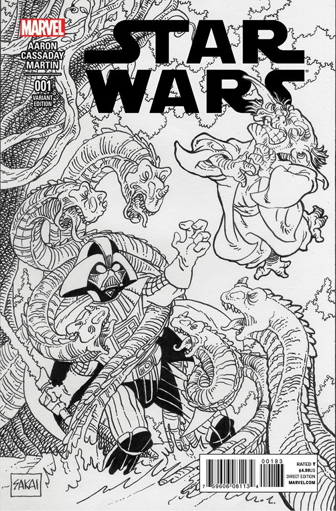 Star Wars #1 (Stan Sakai CSC/BBC Sketch Variant Cover) (14.01.2015)