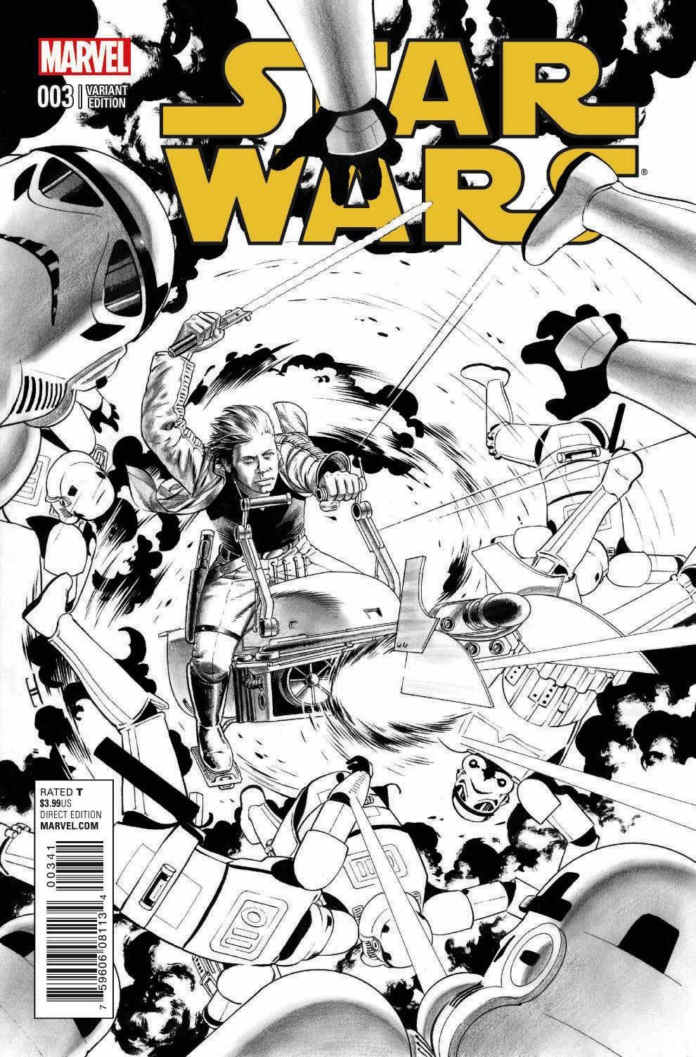 Star Wars #3 (John Cassaday Sketch Variant Cover) (11.03.2015)