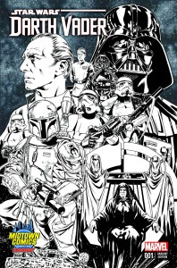 Darth Vader #1 (Mark Brooks Midtown Comics Connecting Sketch Variant Cover 2) (11.02.2015)