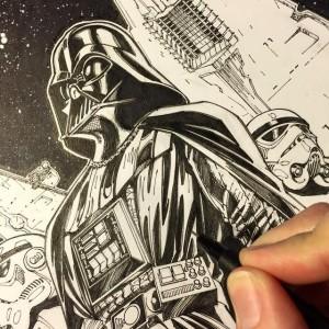 Teaser für Darth Vader #1 (J. Scott Campbell Connecting Variant Cover B) (11.02.2015)