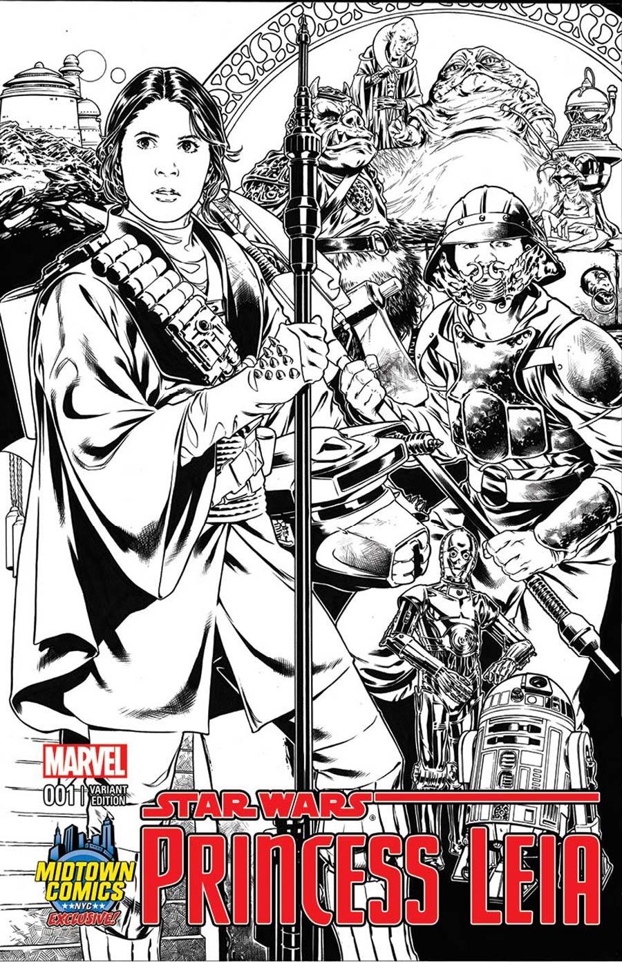 Princess Leia #1 (Mark Brooks Midtown Comics Connecting Sketch Variant Cover 3) (04.03.2015)