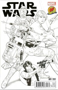 Star Wars #1 (Greg Land Dynamic Forces Sketch Variant Cover) (14.01.2015)