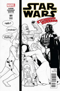 Star Wars #1 (John Tyler Christopher Humorous Party Sketch Variant Cover) (14.01.2015)