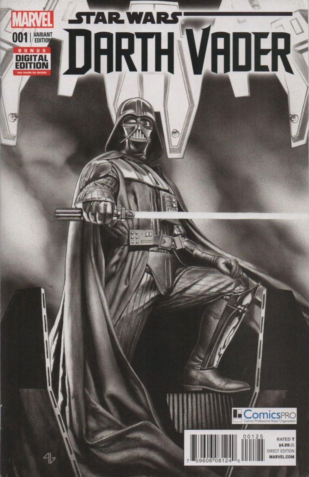 Darth Vader #1 (Adi Granov ComicsPRO Black & White Variant Cover) (18.02.2015)