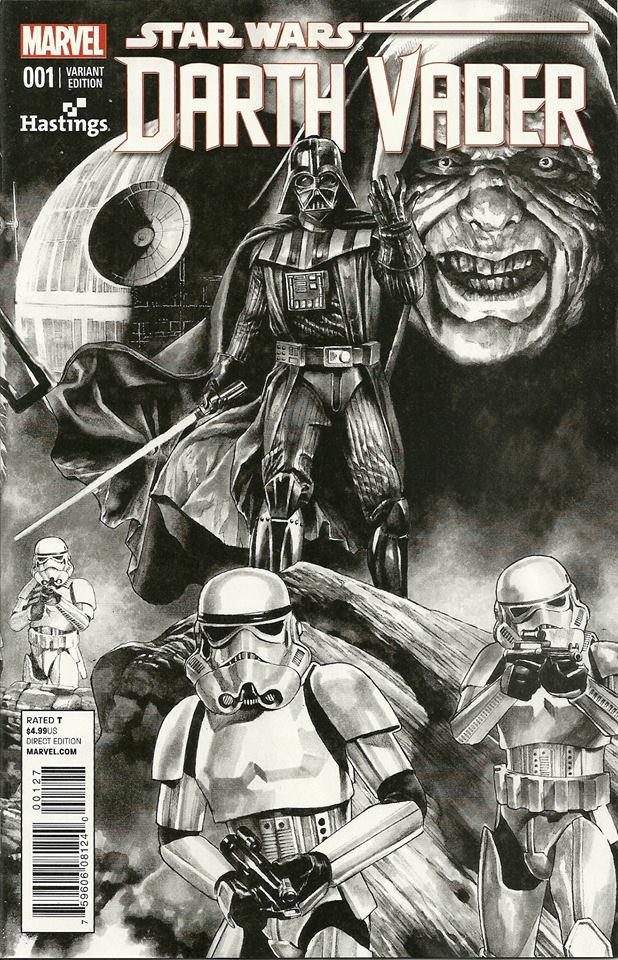 Darth Vader #1 (Mico Suayan Hastings Black & White Variant Cover) (11.02.2015)