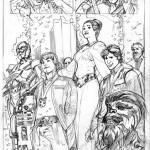 Terry Dodsons Princess Leia-Skizzen, Bild 1
