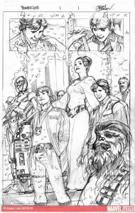 Terry Dodsons <em>Princess Leia</em>-Skizzen, Bild 1