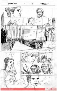 Terry Dodsons Princess Leia-Skizzen, Bild 2
