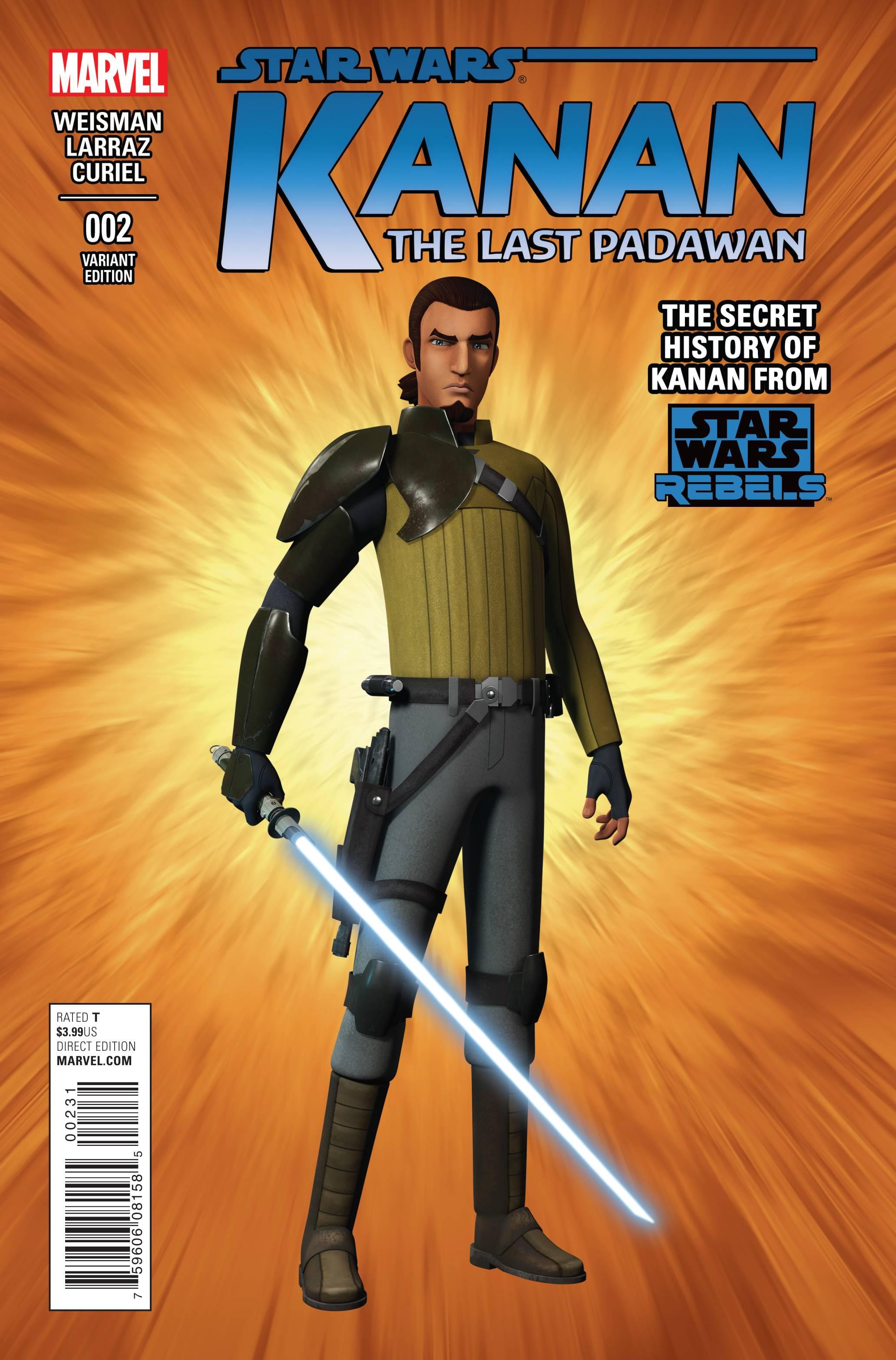 Kanan: The Last Padawan #2 (Star Wars Rebels Television Show Variant Cover) (06.05.2015)