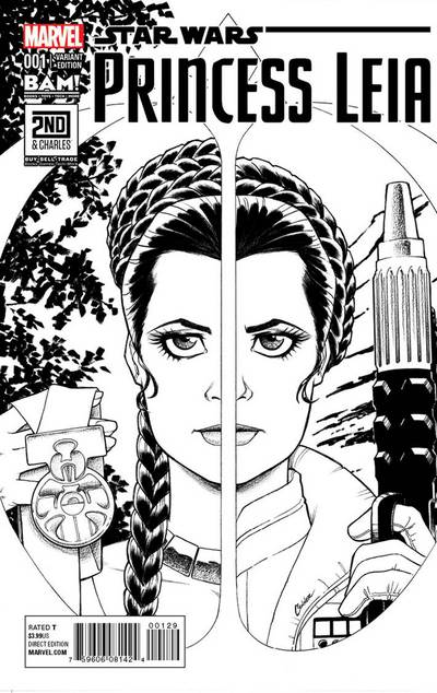Princess Leia #1 (Amanda Conner 2nd & Charles/Books-A-Million Sketch Variant Cover) (04.03.2015)