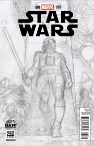 Star Wars #1 (Simone Bianchi 2nd & Charles/Books-A-Million Sketch Variant Cover) (23.02.2015)
