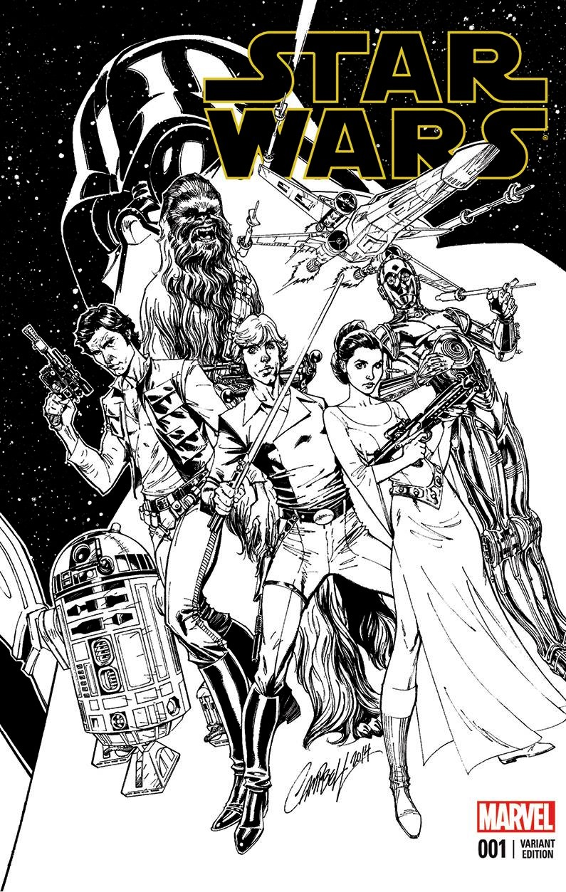 Star Wars #1 (J. Scott Campbell Four Color Grails Connecting Sketch Variant Cover A) (03.02.2015)